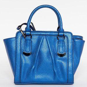 VERA WANG Blue Metallic Shoulder Bag